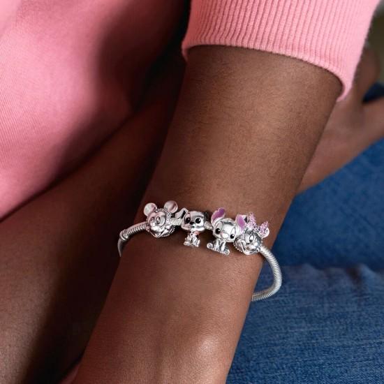 Pandora Disney Minnie Mouse Pink Pavé Bow Clip Charm