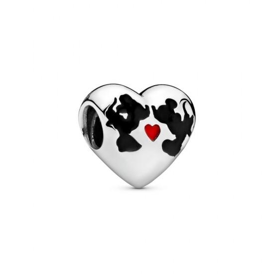 Pandora Disney Minnie Mouse & Mickey Mouse Kiss Charm
