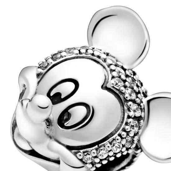 Pandora Disney Mickey Mouse Pavé Clip Charm