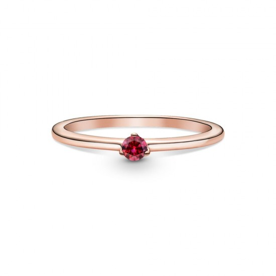 Pandora Red Solitaire Ring