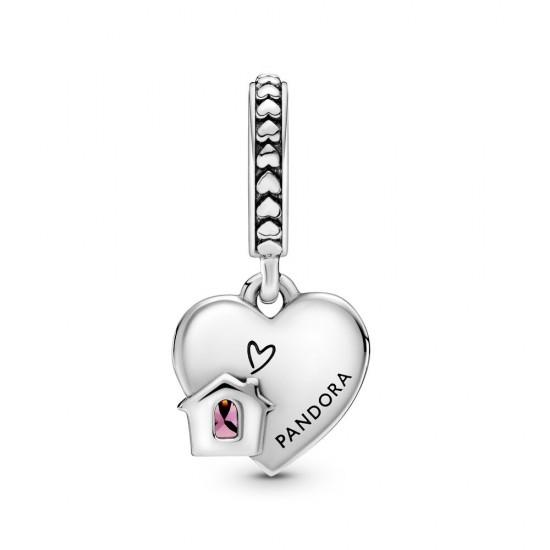 Pandora Love My Home Heart Dangle Charm